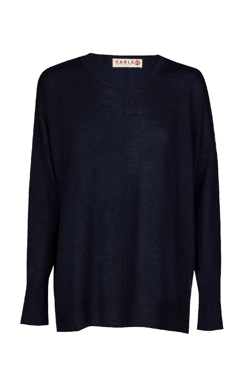 Superfine Relaxed Sweater Navy