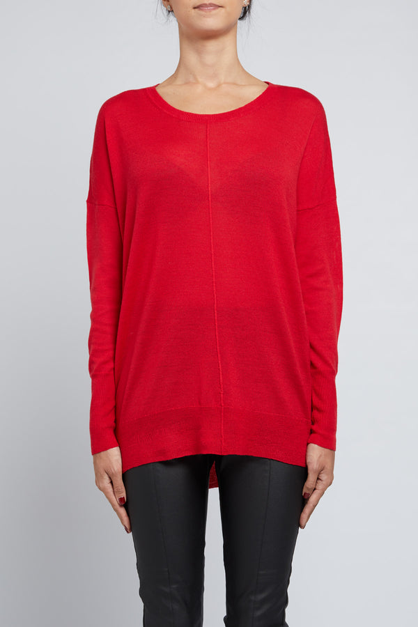 Superfine Relaxed Sweater Poppy