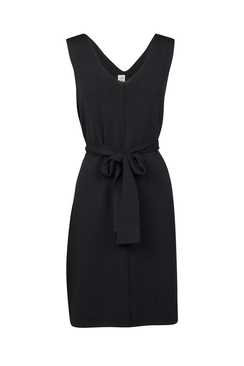 Katie Scoop Dress Black