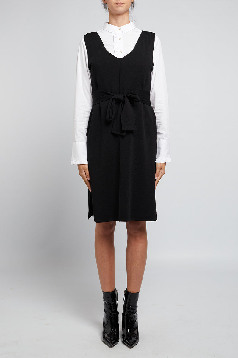 Katie Scoop Dress Black Front