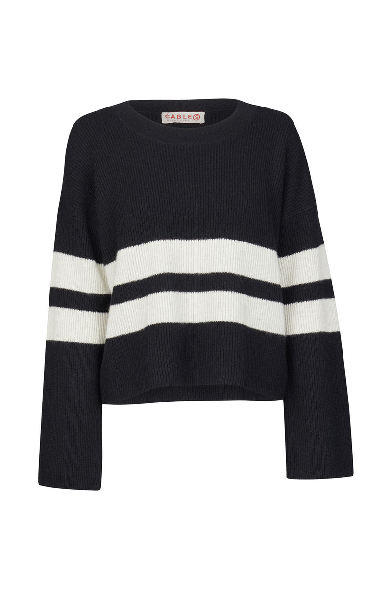Cashmere Cropped Sweater Black