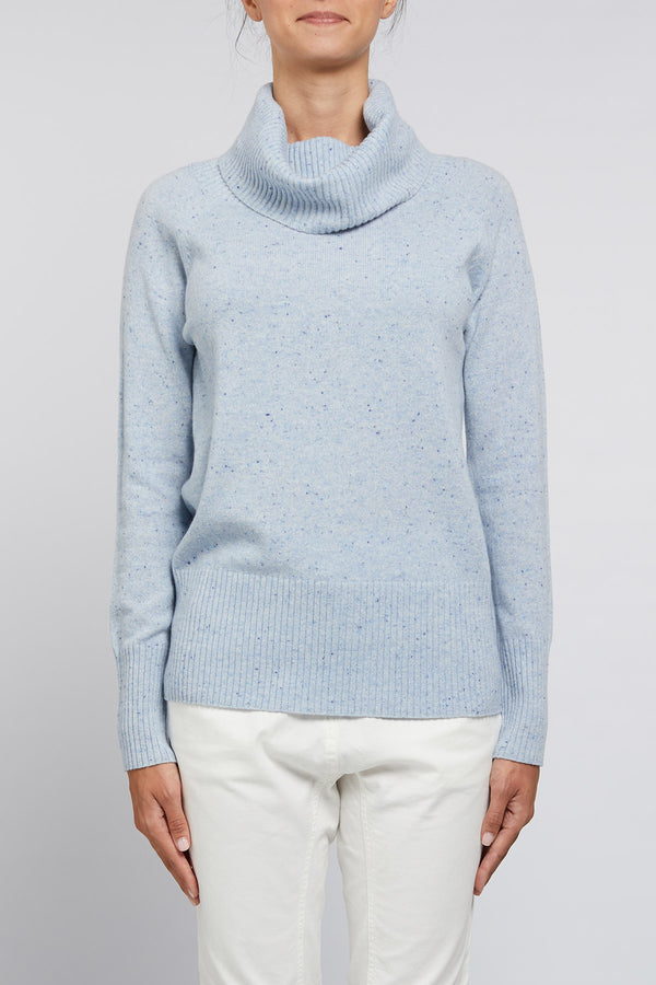 Cashmere Cowl Jumper Chambray