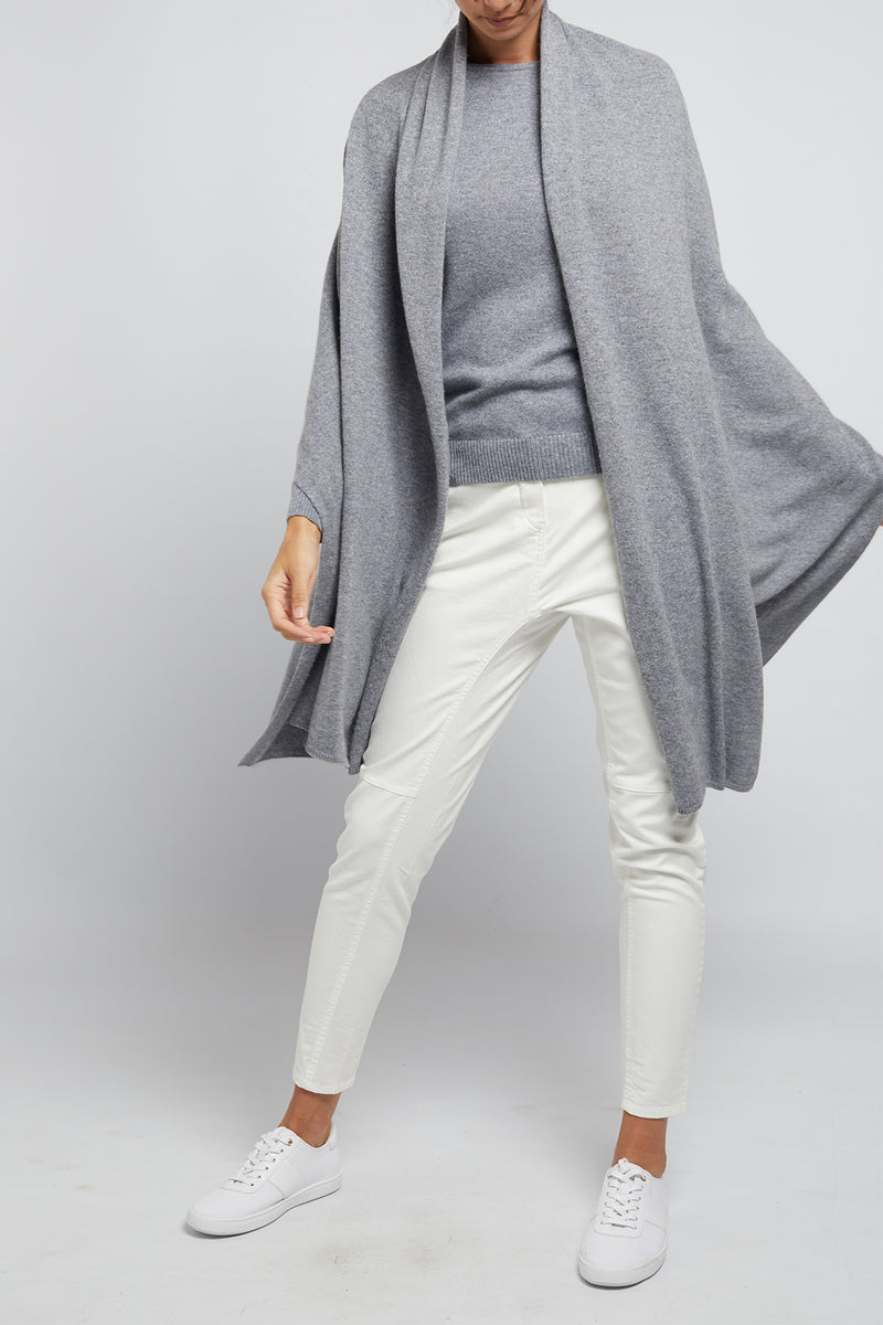 Cashmere Travel Wrap Silver Lurex
