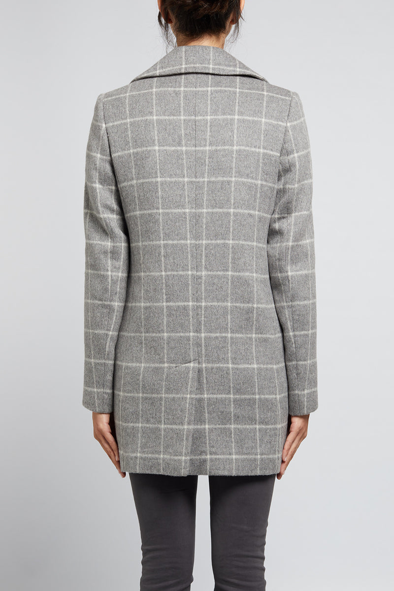 Hunter Coat Grey Marle Check
