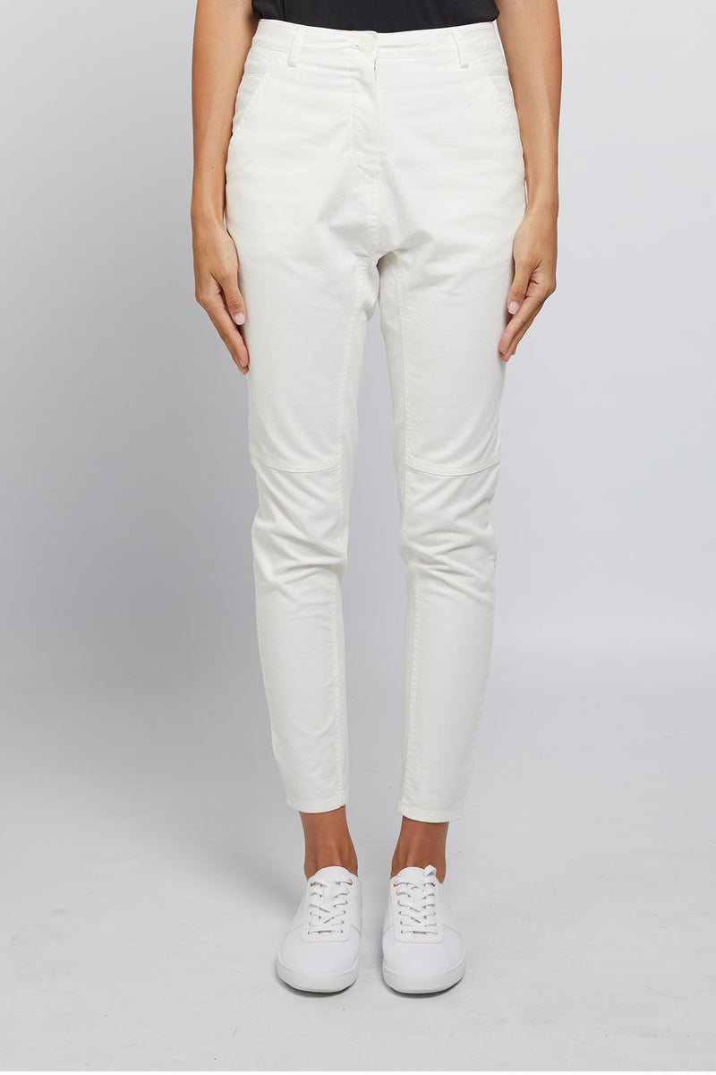 Elisa Drill Pant White Front