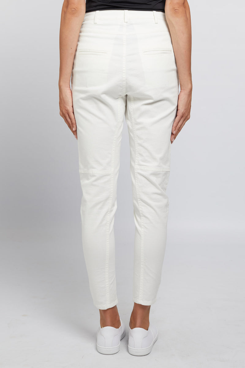 Elisa Drill Pant White Side