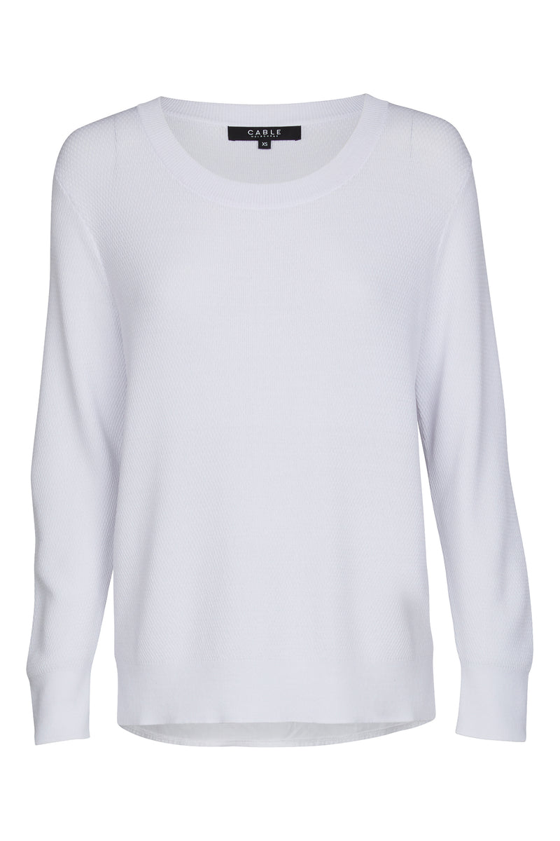 Chloe Crepe Sweater White