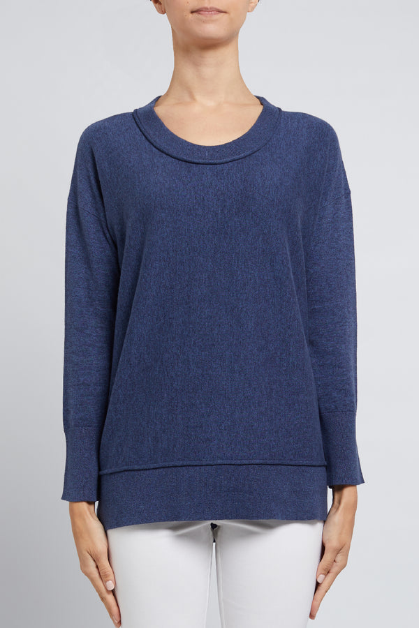 Peachskin Weekend Sweater Denim