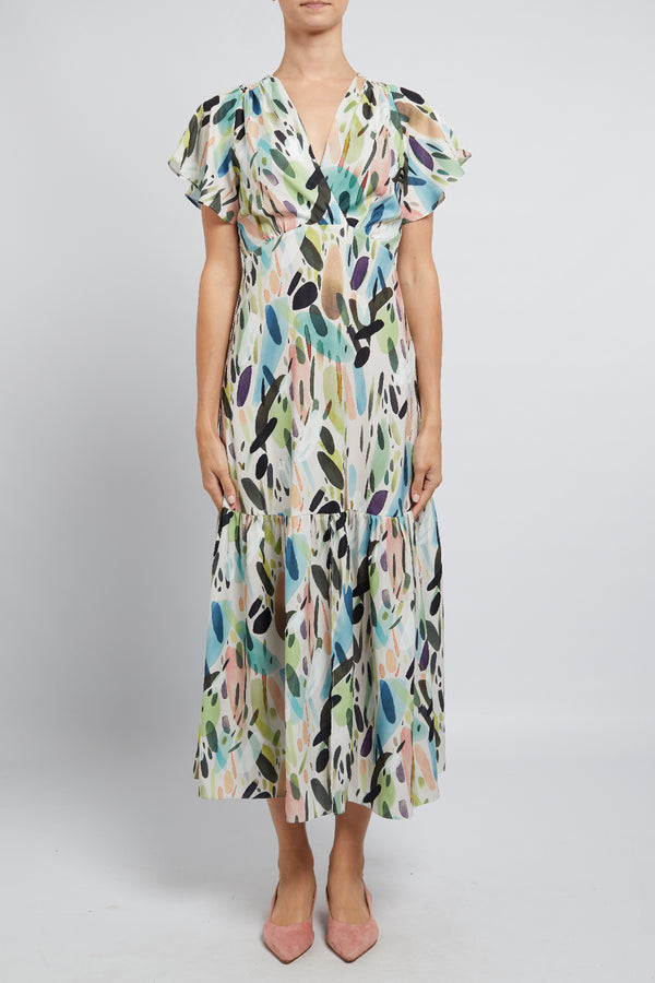 Florence Maxi Dress Nordic Bloom
