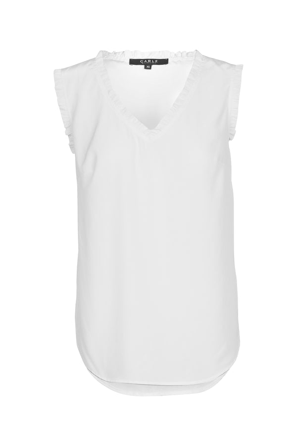Liza Silk Top White