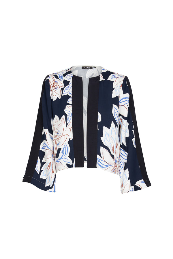 Maya Crop Jacket Del Mar Print