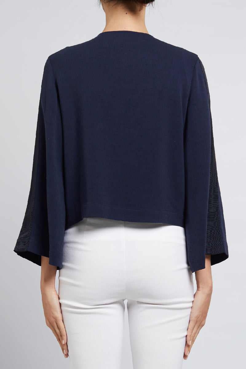 Maya Crop Jacket Navy