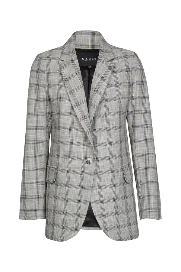 Ivy Check Blazer Grey Check