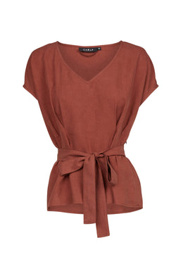 Nya Top Burnt Sienna Brown