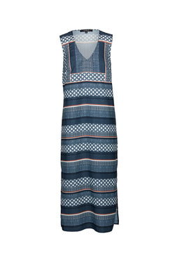 Mosaic Midi Dress Tile Print