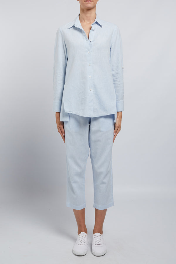 Amy Linen Shirt Capri