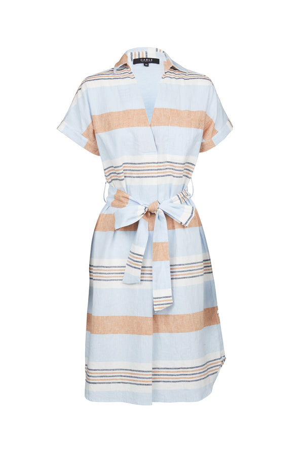 Sunday Linen Dress Capri Stripe
