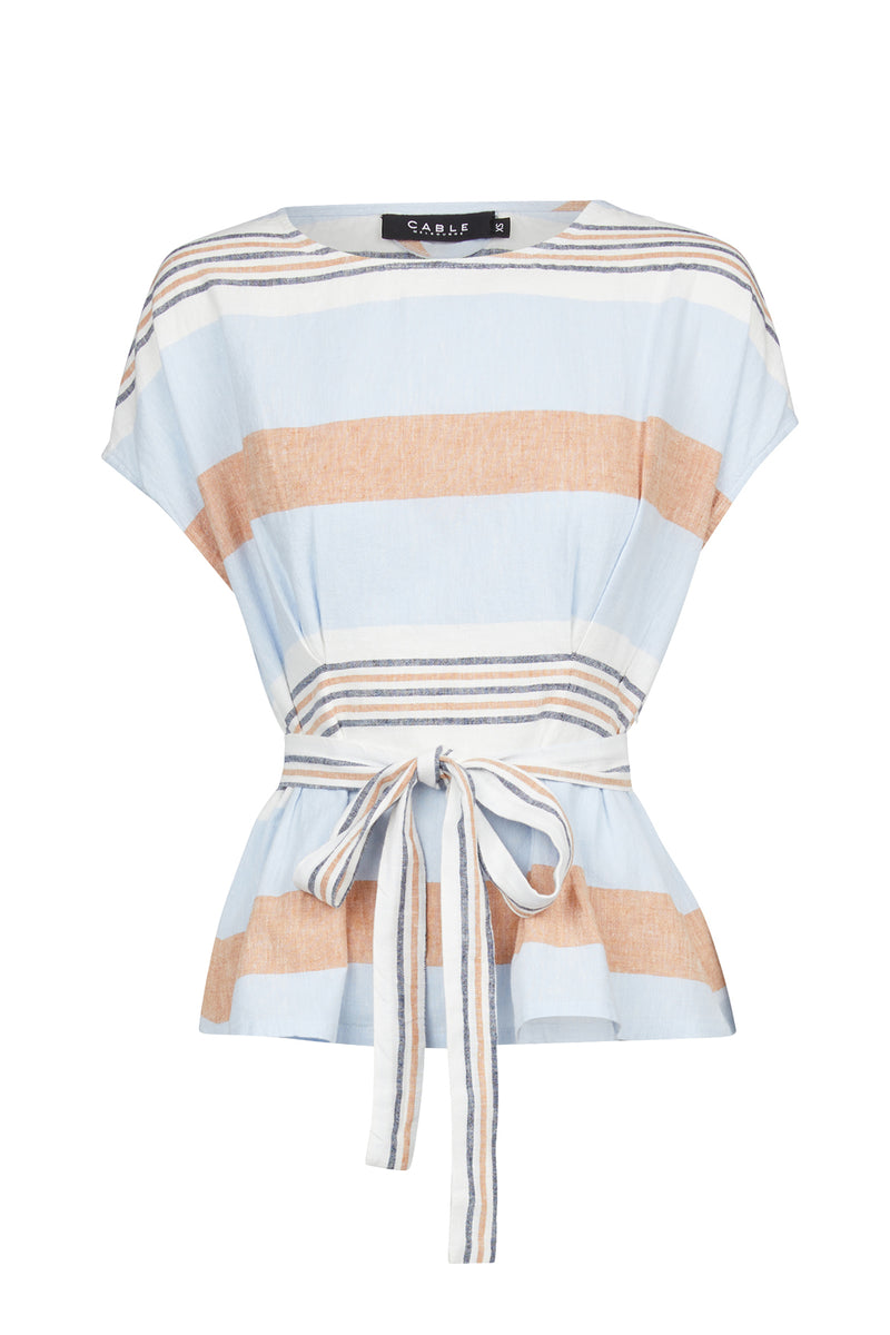 Nya Linen Stripe Top Capri Stripe