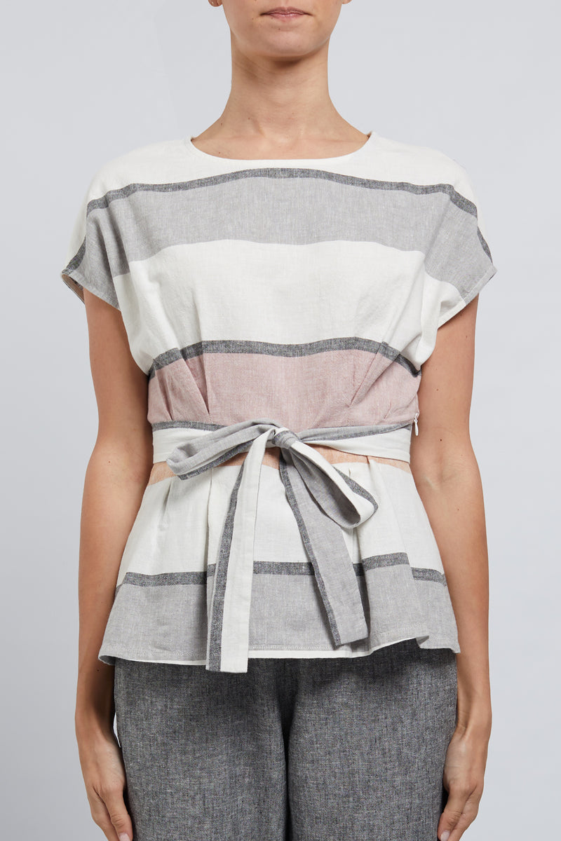 Nya Top Musk Pink Stripe Front