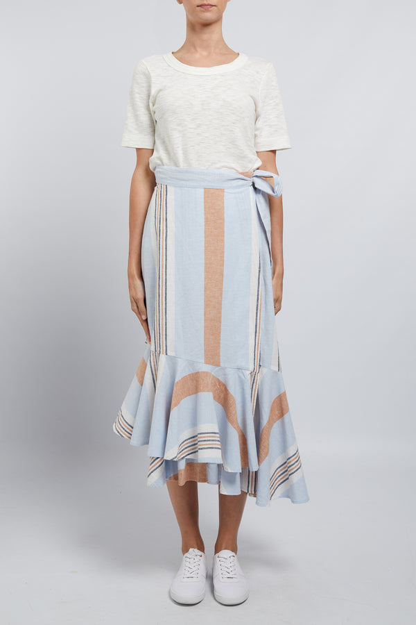 Ravello Linen Skirt Capri Stripe