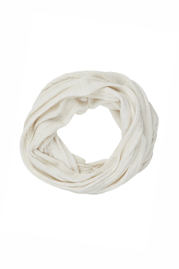 Merino Linky Snood Antique White