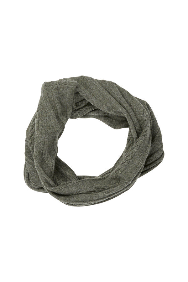 Merino Linky Snood Khaki
