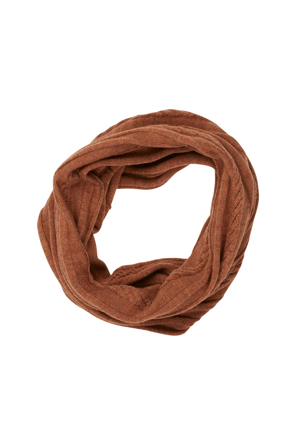 Merino Linky Snood Rust