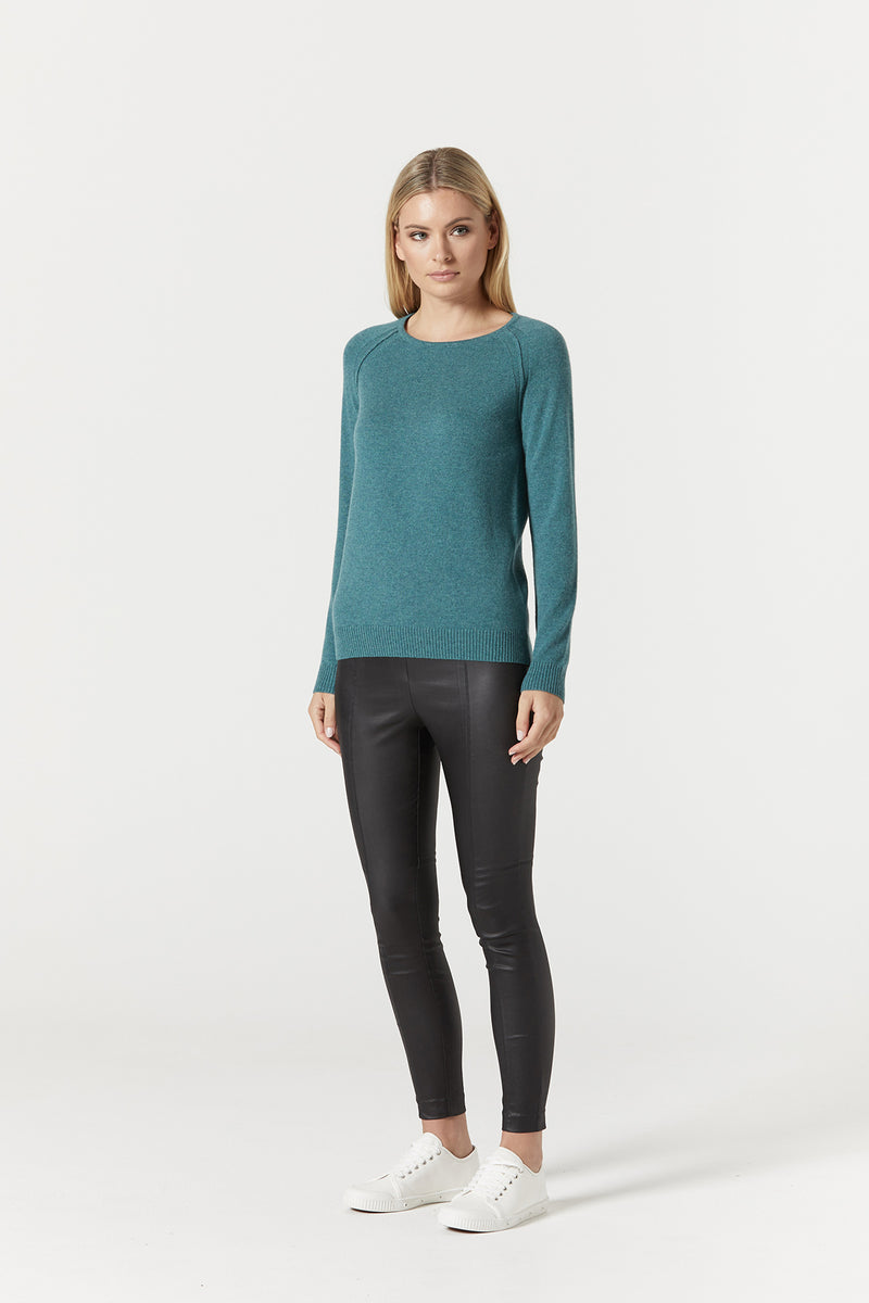 Pure Cashmere Crew Jumper Sea Green