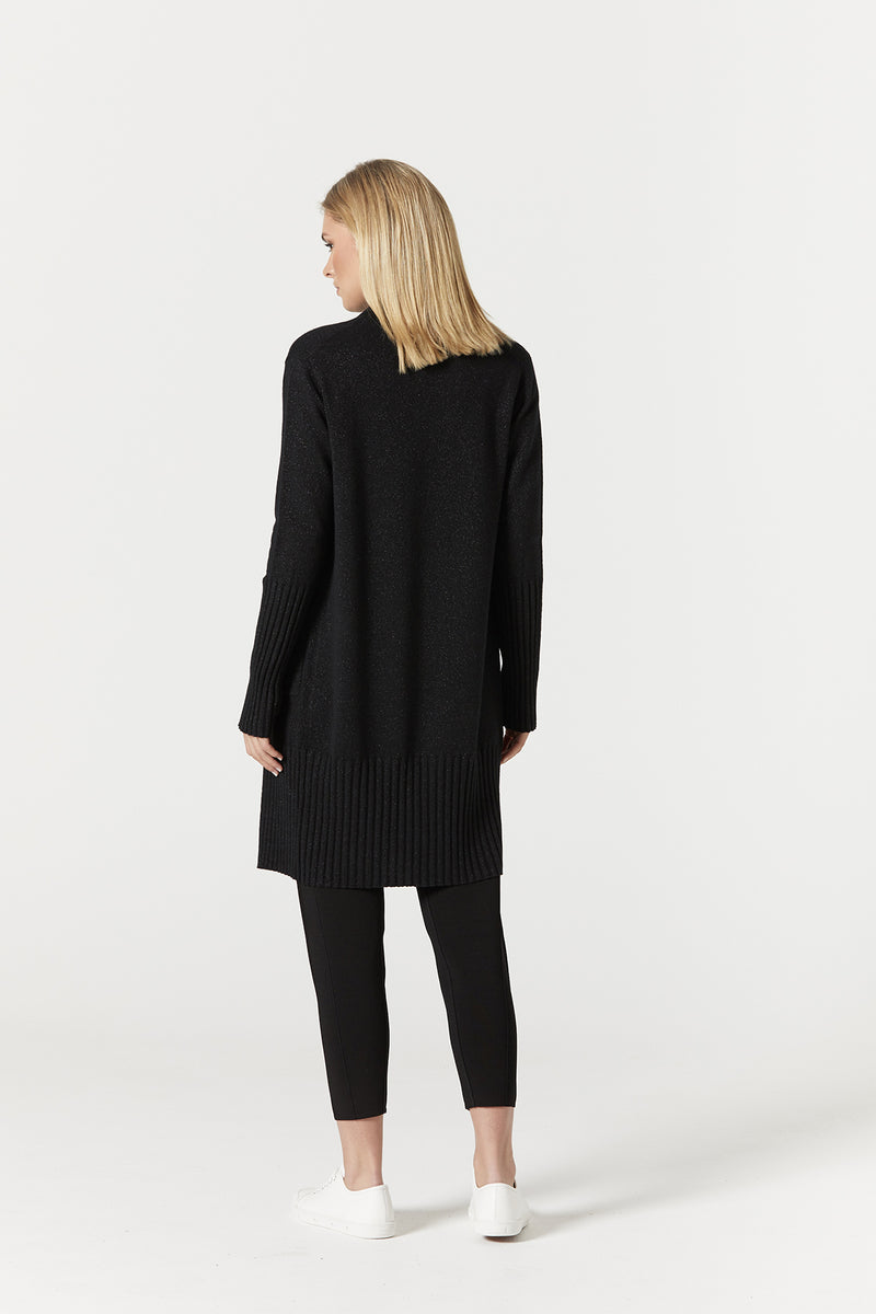 Pure Cashmere Cardigan Black Lurex