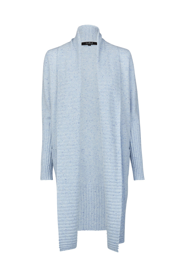 Pure Cashmere Cardigan Chambray