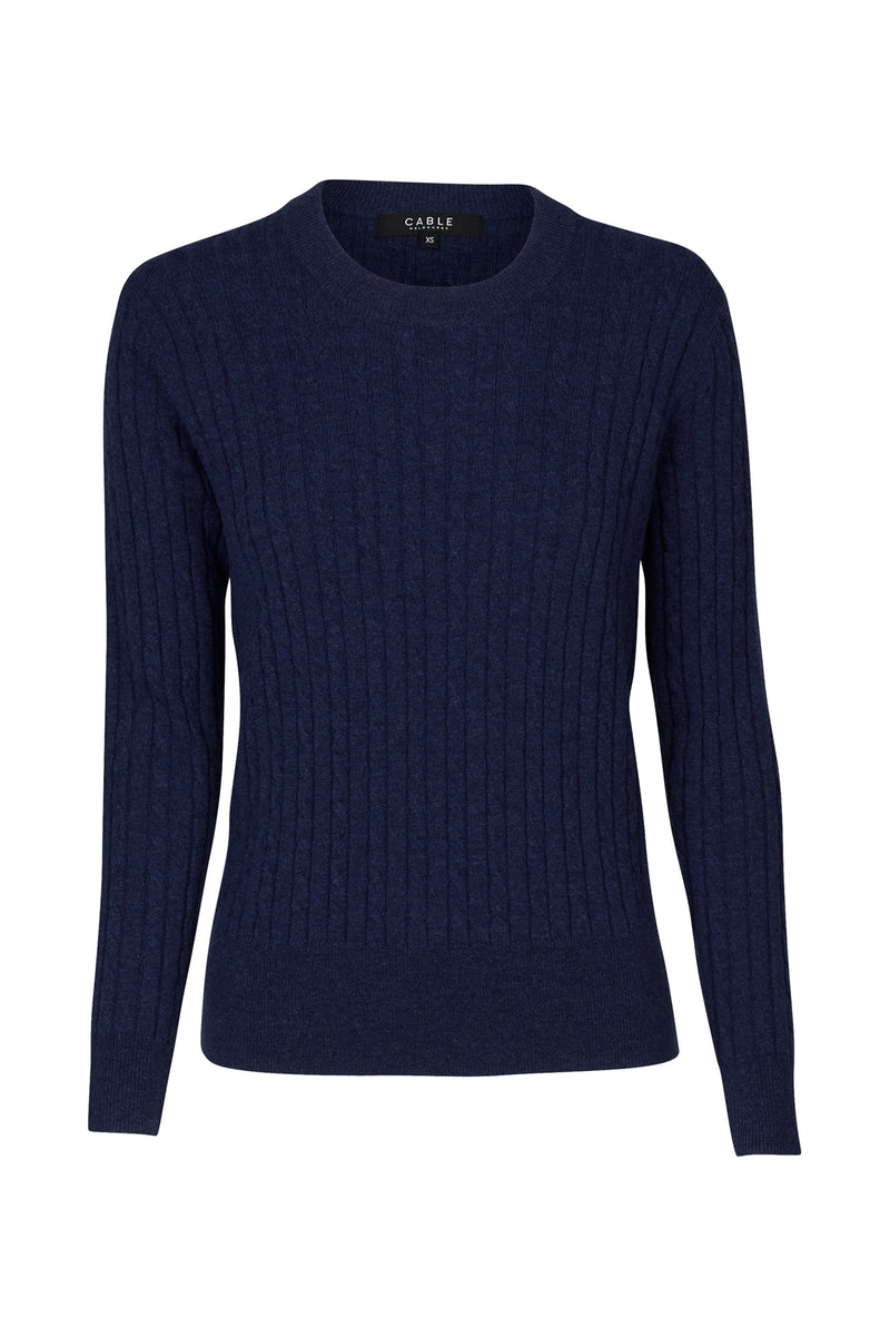 Cashwool Cable Jumper Blue