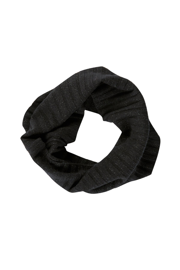 Pure Cashmere Snood Black Lurex