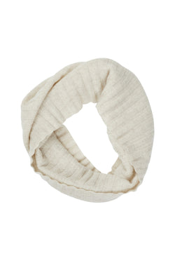 Pure Cashmere Snood Straw