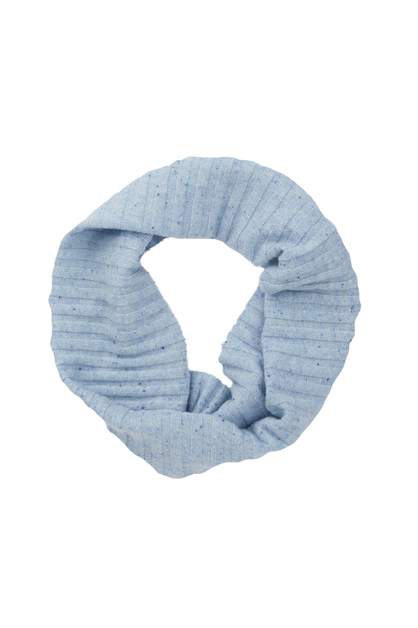 Pure Cashmere Snood Chambray