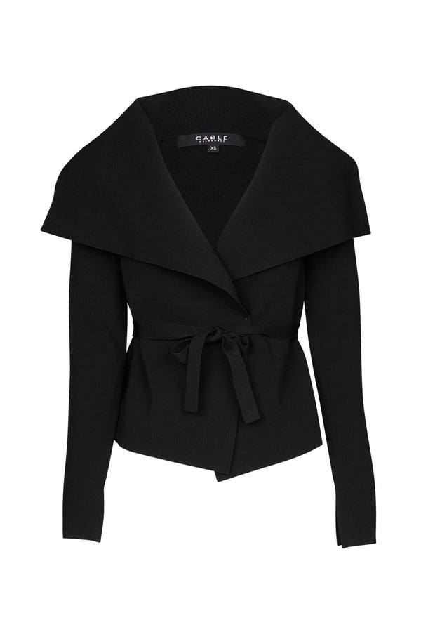 Crepe Belted Jacket Black