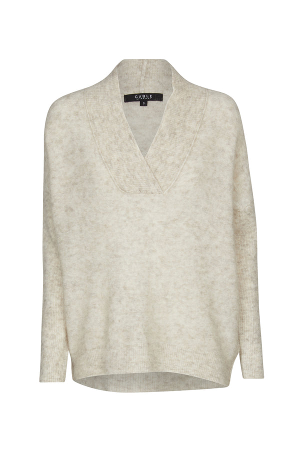 Esme Shawl Jumper Oatmeal