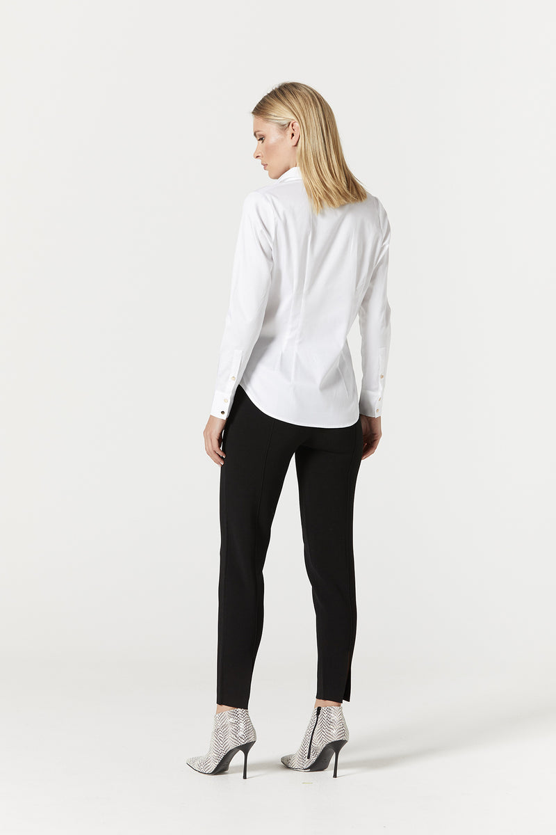 Iris Pin Tuck Shirt White