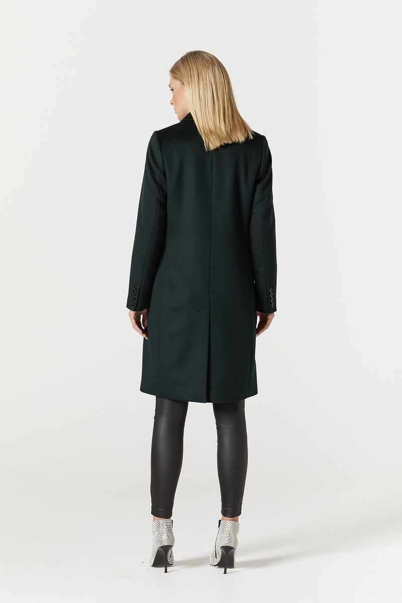 Harrison Wool Coat Forest