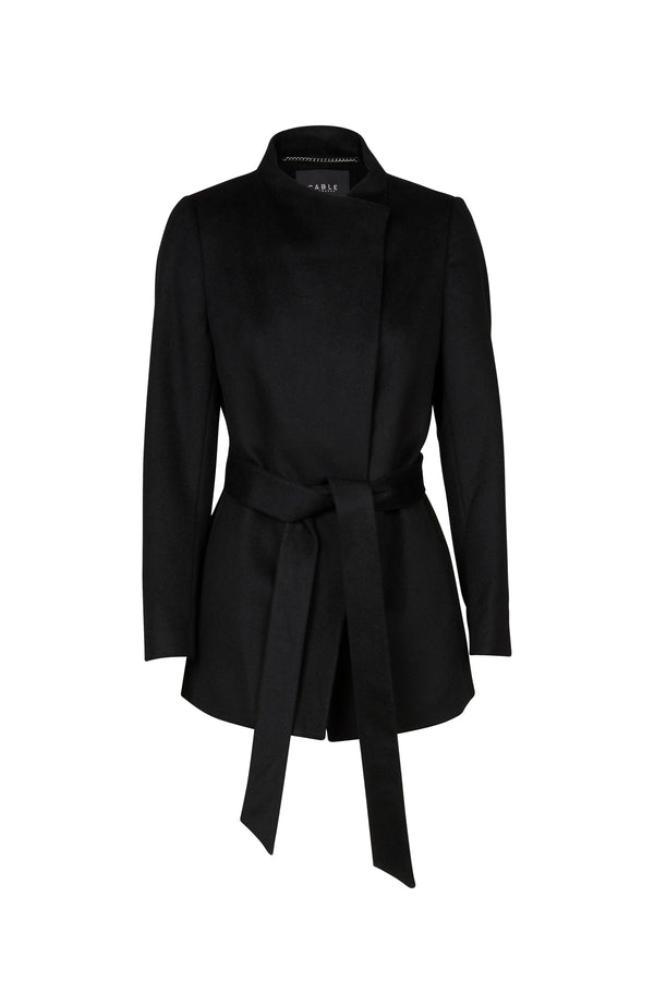 Parker Wool Coat Black