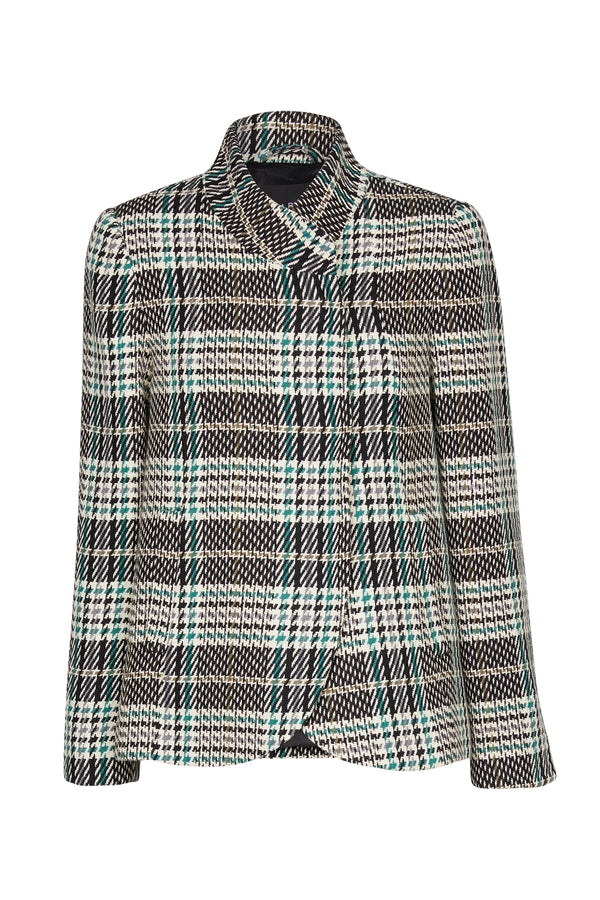 Evelyn Coat Green Check