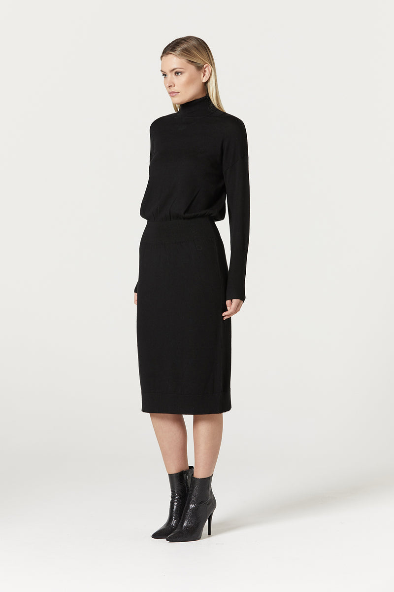 Florence Merino Dress Black Side