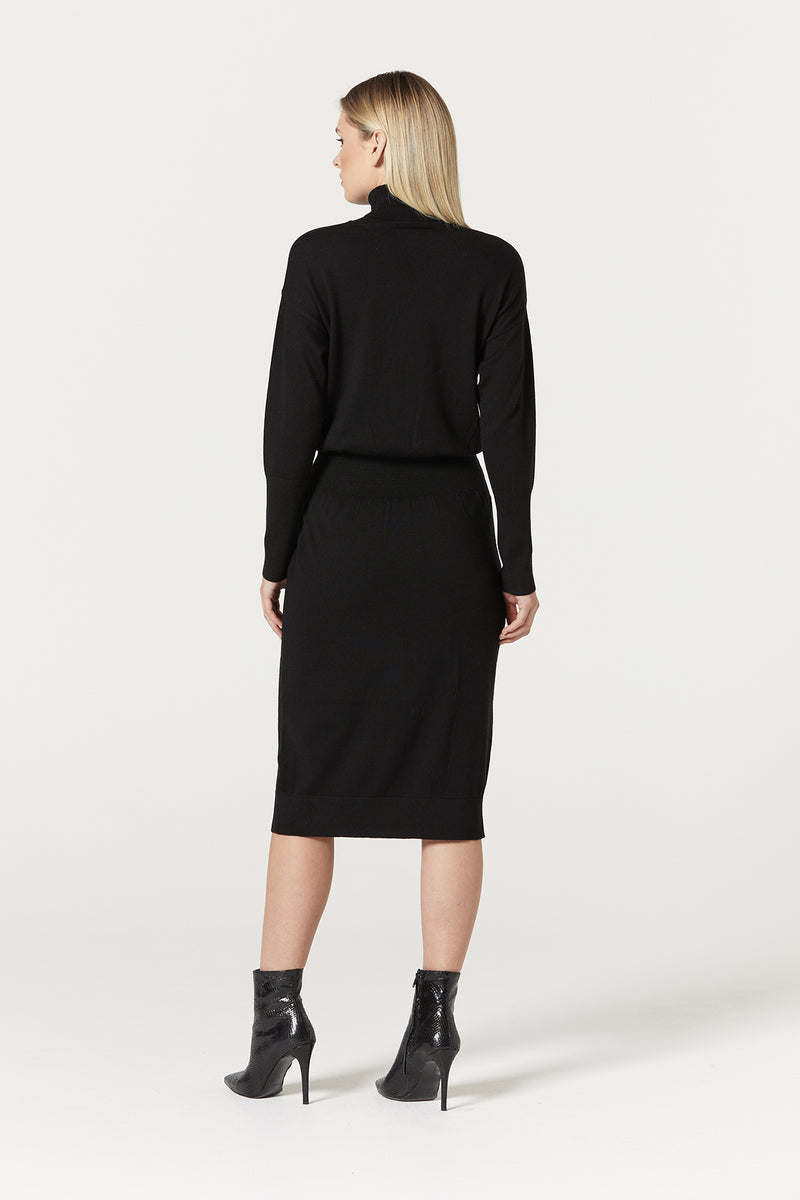 Florence Merino Dress Black Back