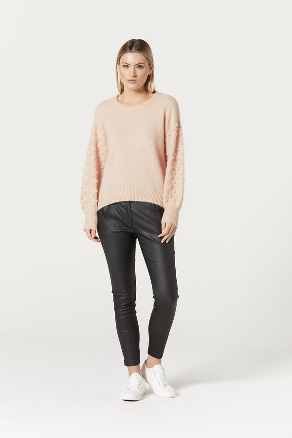 Isabelle Mohair Jumper Nude Front