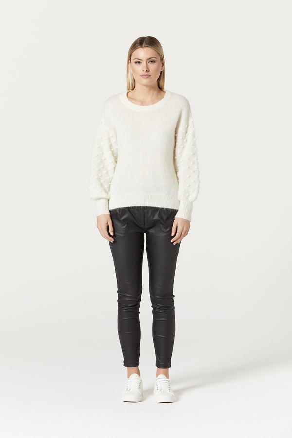 Isabelle Mohair Jumper White Front