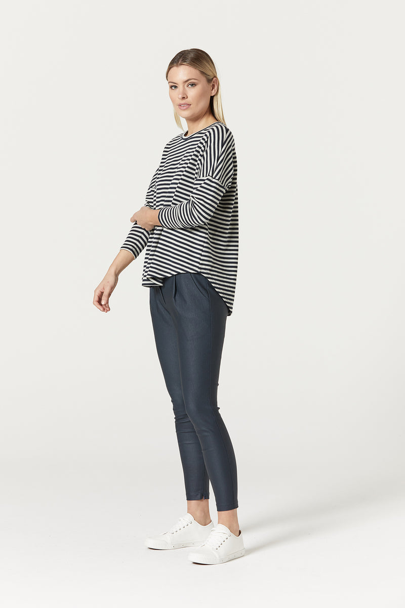 Suzie Stripe Top Navy Stripe