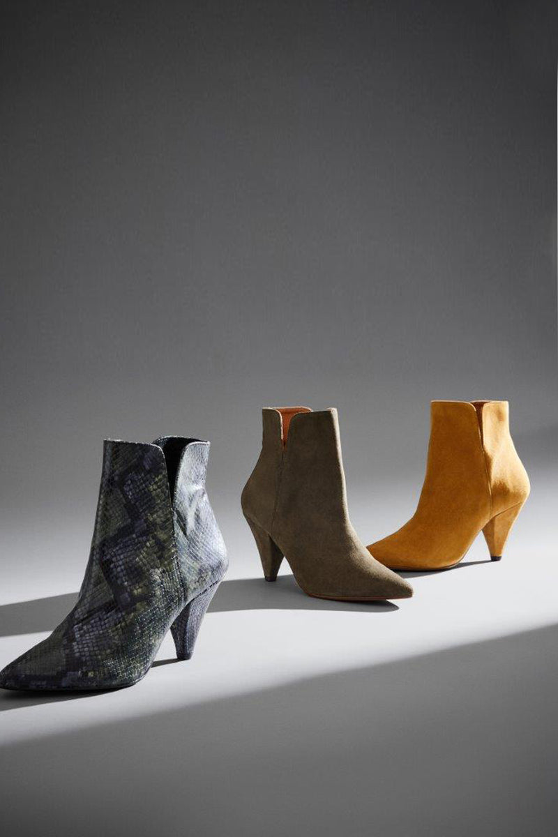 Gisela Suede Ankle Boot Khaki Campaign