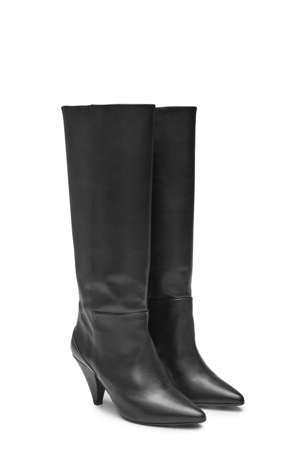 Ursula Knee High Boot Black