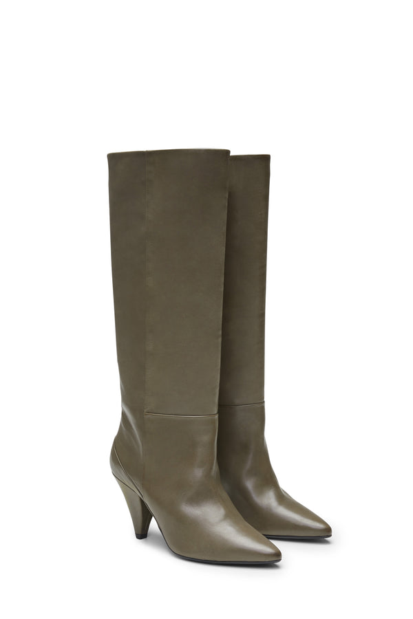 Ursula Knee High Boot Khaki