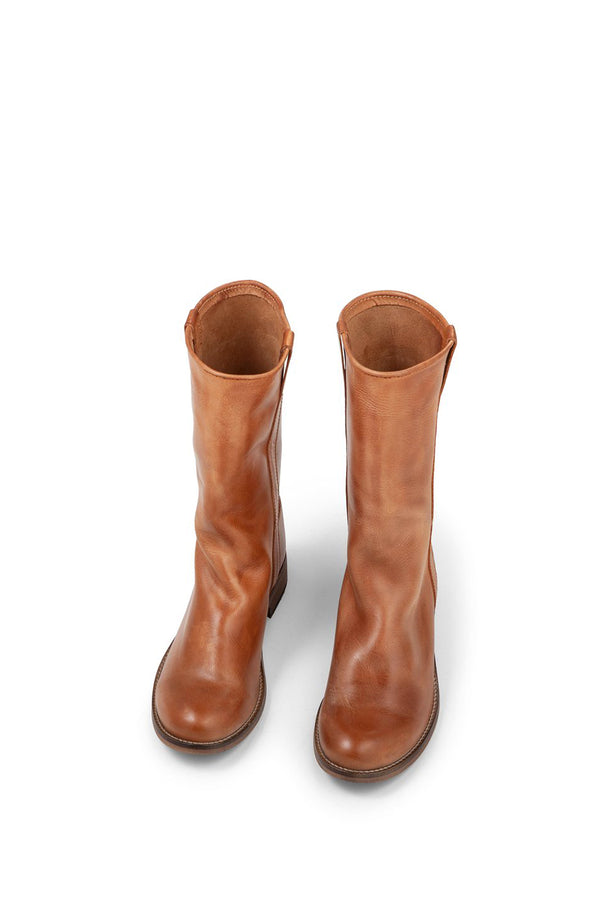 Ivy Lee Simone Boot Dark Tan Front