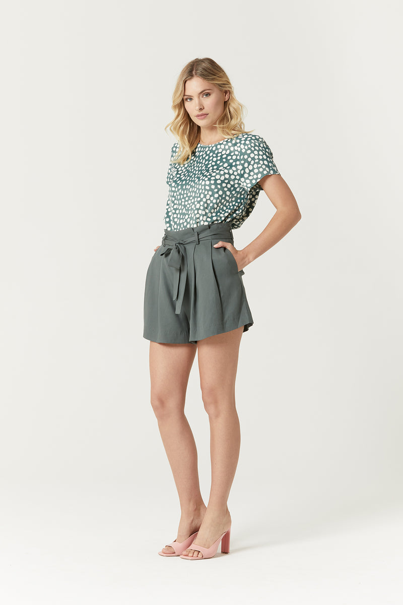 Dover Top Sea Green Dot